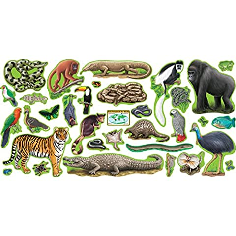 Trend 37-Piece 60 cm Paper Rainforest Animals,
