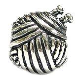 Queenberry Breloque en forme de pelote de laine pour bracelets de type Pandora/Troll/Chamilia/Biagi/Story