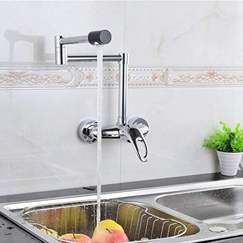 Wasserhahn Wall Faucet Kitchen Faucet Mixer Hot And Cold Water Chrome Brass Kitchen Tap Folding 360 Rotating Kitchen Sink Tap -