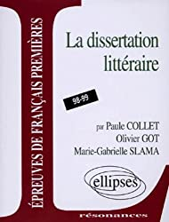 Epreuves anticipées de français, 3e sujet : La dissertation littéraire