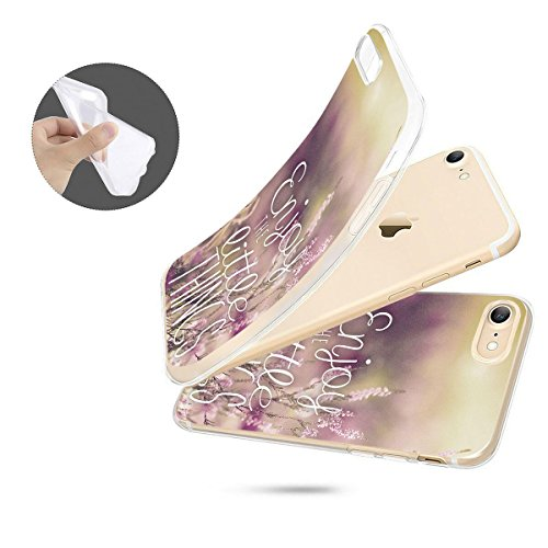 finoo | iPhone 8 Plus Weiche flexible Silikon-Handy-Hülle | Transparente TPU Cover Schale mit Motiv | Tasche Case Etui mit Ultra Slim Rundum-schutz | Cute but psycho Enjoy little things