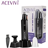 ACEVIVI 2 In 1 Electric Shaving Nose And Ear Hair Trimmer Professional Waterproof Nose Hair Trimmer For Men And...