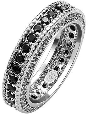 weinuo schwarz Onyx Edelstein 925Sterling Silber Ring hohe Qualität Größe L1/2bis V1/2F1554