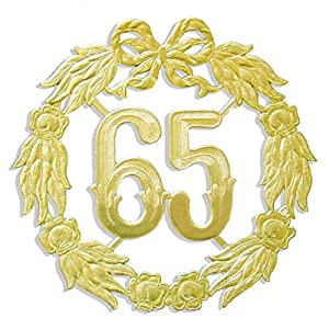 kunze a013060651aniversario número 65, diámetro 18cm, Oro