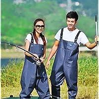 Morebeauty Pantalón de pesca, impermeables, con suela de tacos, para mujer, 41