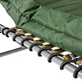 DIVERO - Profi Karpfenliege Campingliege mit 6 Schlammfüßen Angelliege grün -