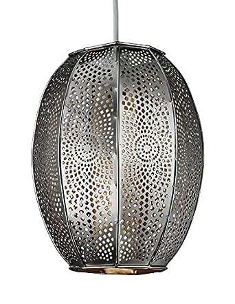 Lighting Collection 700063 Lampe à suspension non-électrique Motifs marocains Chromé 60 W