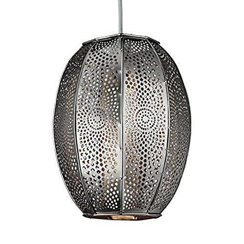 Moroccan lighting ceiling amazon lighting collection 700063 60 watt non electrified moroccan patterend pendant chrome aloadofball Images