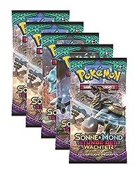 Pokémon Sonne & Mond 02 Stunde der Wächter - 5 Booster Ein neuer Zyklus beginnt! Willkommen in der tropischen Alola-Region! Die zweite Serie im brandneuen SM-Zyklus -Sonne & Mond: Stunde der Wächter -mit Charakteren der siebenten Generation a...