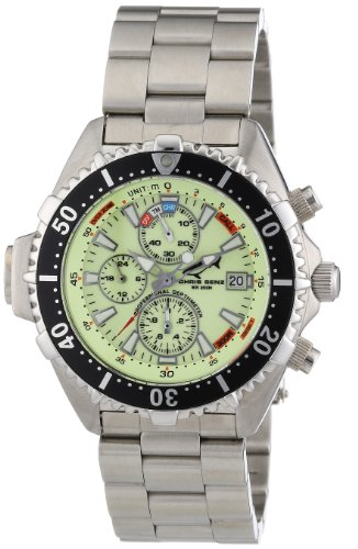 Chris Benz Men's Quartz Watch CB-C-NEON-MB with Metal Strap