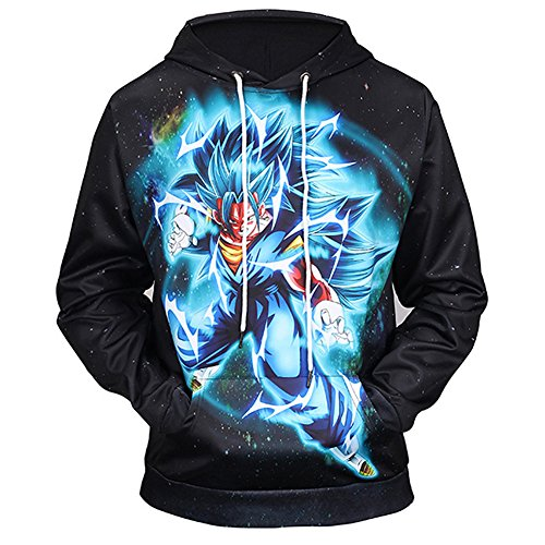 PIZZ ANNU Dragon Ball serie de hombres de chaqueta con capucha de mang