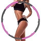 COWINN Hula Hoop vuxen rockring fitness rockring för viktminskning 8 segment avtagbar hålring lämplig för fitness/sport