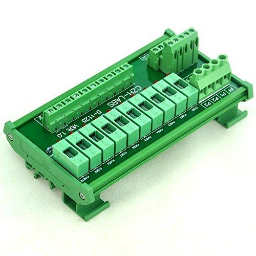 Electronics-Salon DIN Rail Mount 10 Position Power Distribution Sicherung Module Board, für AC/DC 5 ~ 48 V. Dc-power-distribution-modul