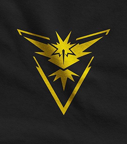 Go Team Gelb Instinct Logo Frauen Langarm-T-Shirt Schwarz