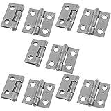 Image of 1 Gray Rectangular Folding Closet Cabinet Door Hinge Hardware 10 Pcs - Comparsion Tool