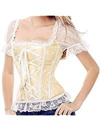 e1392f36036 Womens Vintage Waist Slimming Corset Bustier Top Sexy Bride Lace Up Party  Club Bodysuits Plus Size
