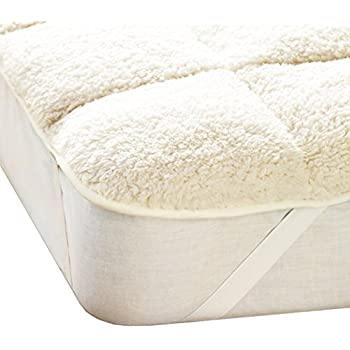Fine Linens Super Soft Warm Teddy Fleece Mattress Topper