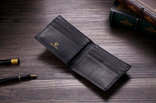 51LifneXbgL - Cronus & Rhea® | Luxury Money Clip Exclusive Leather (Ladon) | Card Holder - Card Case - Purse - Wallet | Real leather | With elegant gift box | Men - Women