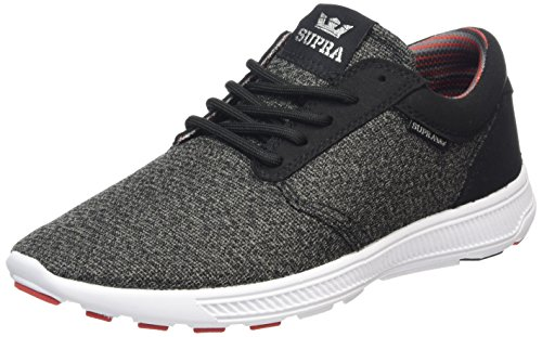 Supra Hammer Run, Sneakers Basses mixte adulte Gris (CHARCOAL HEATHER/RED/BLK-WHITE CHR)