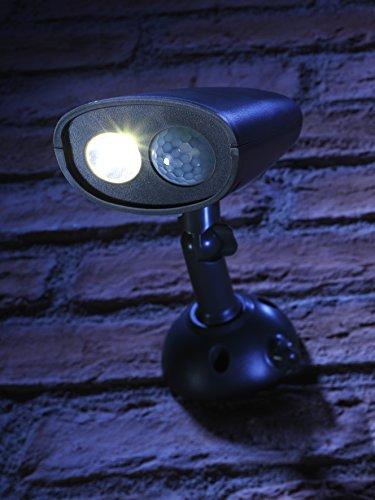 Auraglow Drahtloser Superhelles Sicherheitslicht mit PIR Bewegungssensor Wetterfest Sicherheit Licht