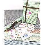 Satyam Kraft Gift Wrapping Checks Design Mix Colour Paper, Envelope Making,Card Making, (Pack Of 10)