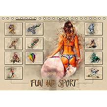 Fun and Sport (Tischkalender 2018 DIN A5 quer): Fun und Sport, voll im Trend. (Monatskalender, 14 Seiten ) (CALVENDO Sport) [Kalender] [Jan 17, 2017] Roder, Peter