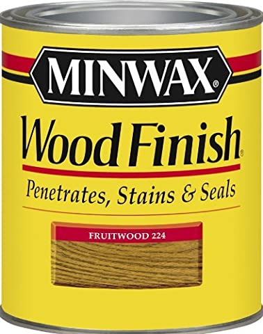 Minwax 22410 1/2 Pint Wood Finish Interior Wood Stain, Fruitwood by Minwax