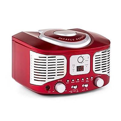 Auna RCD320 - Poste lecteur CD rétro avec tuner FM et entrée AUX par Auna