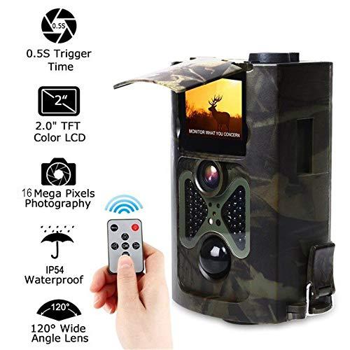 ZMM Wildkamera 16 MP 1080p HD Wildkamera Fotofalle Trail Kamera Jagd Wald Hirsch Wildkamera