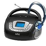 Stereo Lautsprecher Radio Boombox USB SD Musik Anlage Aux im Set Inklusive Köpfhörer