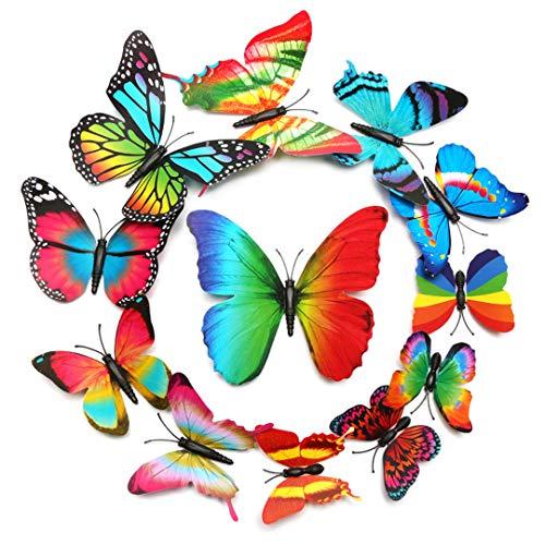 Wandaufkleber mit Radieschenstern, 3-dimensional, PVC, Schmetterlingsmotiv, 2 Stück -