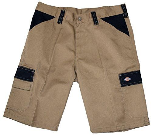 Dickies Arbeit Hosen Für Männer (Dickies ED24/7 Shorts 2 Schenkeltaschen Kurze Hose (48, khaky/schwarz))