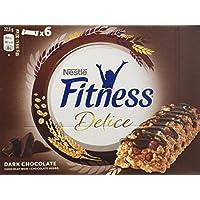 Nestlé Fitness Delice - Barritas de Cereales con chocolate negro - 6 cajas de 6 barritas
