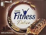 Nestlé Fitness Delice - Barritas de Cereales con chocolate negro - 6 cajas de 6 barritas de cereales (36 barritas)