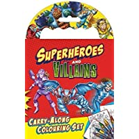 Alligator Products Limited Super Hero Carry Along Colouring Set