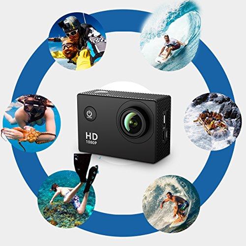 , VicTsing 2,0 Zoll HD 1080P Helmkamera - 6