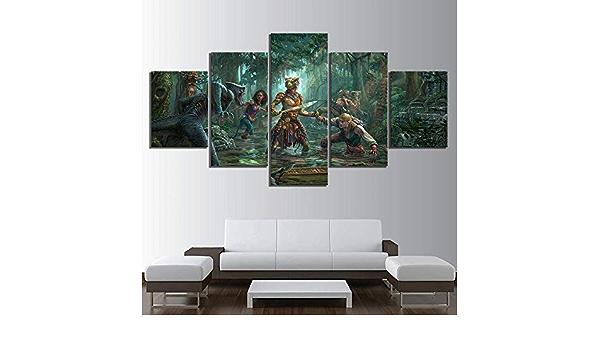 13Tdfc Moderne Wandbilder XXL Wohnzimmer Wohnkultur 150X80Cm 5 Teilige Leinwandbilder XXL Wanddeko Geschenk Pink Floyd Back Katalog Malerei Vlies Leinwandbild 5 Teilig Kunstdruck