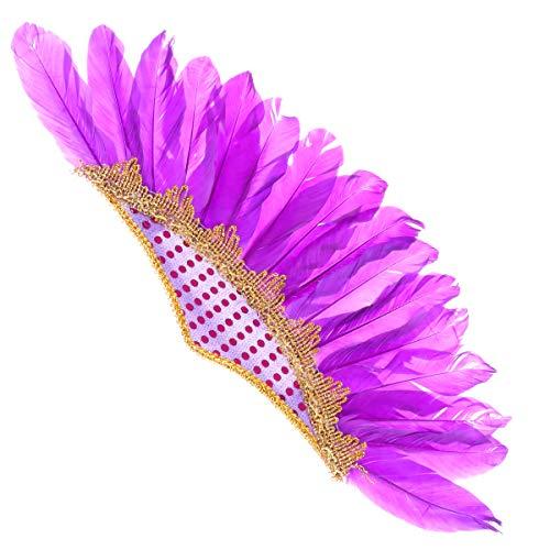 Frauen Kostüm Nette Indische - Amosfun Indianer Kopfschmuck Indianer lustige Partyhut Karneval Stirnband Haarband Tanzleistung Kopfbedeckung Haarschmuck für Halloween Karneval Kostüm Partei liefert