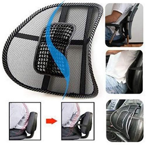 nieliangw0q Rückenkissen Rückenkissen Auto Sitze Zubehör Lendenwirbelrücken Massage Netzstütze Büro Zuhause Auto Stuhl Rückenkissen