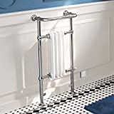 iBathUK | 4 Column Traditional White Electric Heated Towel Rail Bathroom Radiator