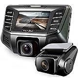 REXING S500 Autokamera Dashcam Dual Front und Hinten mit 170 + 120 Grad Winkel 1080P HD Autokamera Dash-Cam