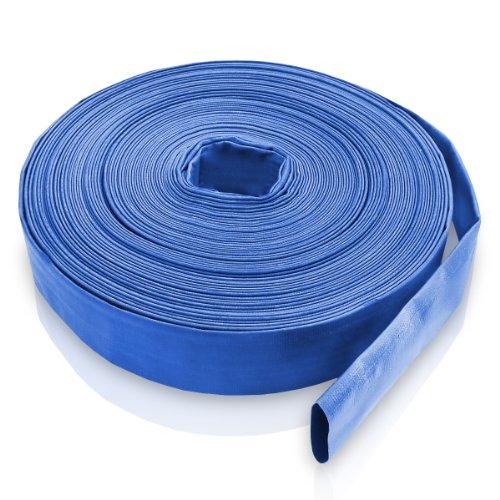 Bradas WAF2B200050 PVC Flachschlauch, 2 Zoll, 50 m, 2 Bar, Blau, 20x20x5 cm