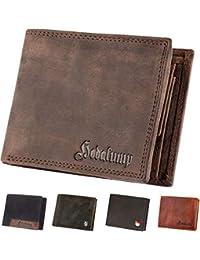Hodalump Echt-Leder Geldbörse Herren in Geschenkbox mit RFID-Schutz (6 Varianten)