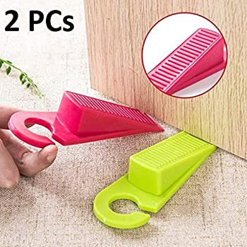 Km Small Rubber Non Slip Clear Wedge Door Stoppers Colour