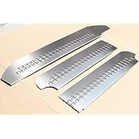 Listones de Umbral Potenciador de acero inoxidable 3 piezas Leisten con abkantung