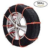 Oziral Auto Schneeketten, Schnee-Reifen-Kette, 10 Stück für Universal-Reifen, rutschsichere Kette, Anti-Rutsch-Kette für Das Auto, SUV und Kleine LKWs