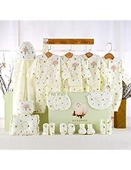 SHISHANG Caja de regalo del bebé Caja determinada 100% del bebé de la luna llena del algodón determinado determinado (sistema de 18 pedazos) (juego de 22 piezas) Muchacha del muchacho cuatro estaciones para el bebé 0-1-Year-old , B , 73cm