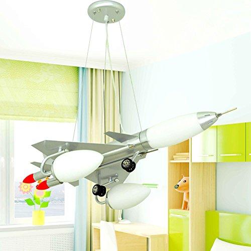 Dual-Saughöhe Flugzeug Kinderzimmerlampe Kronleuchter Kinderwagen Cartoon Jungen und Mädchen mit Schlafzimmer Deckenbeleuchtung