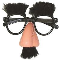 P 'tit payaso 40603gafas–Gruñón–Nariz, bigote y cejas de peluche–negro