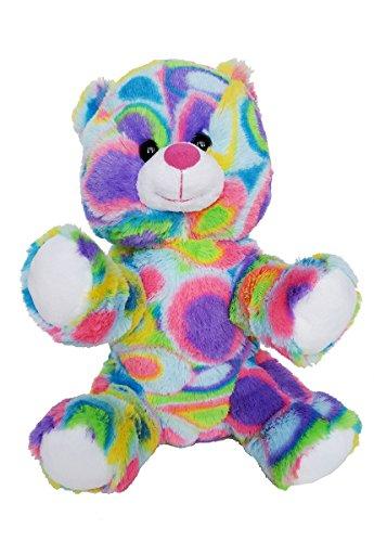 Stuffems Toy Shop Ihren eigenen Plüsch-8-Zoll-Kaleido Bär Record - Ready 2 Liebe in EIN Paar einfachen Schritten - Baby-schritte Tie Dye